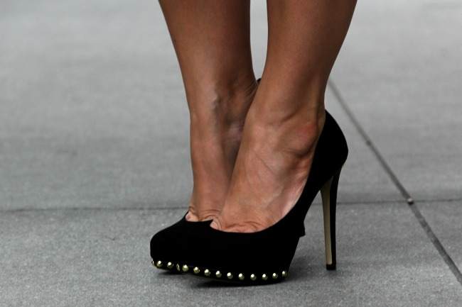 Ailee Studded Suede Pump via Michael Kors,