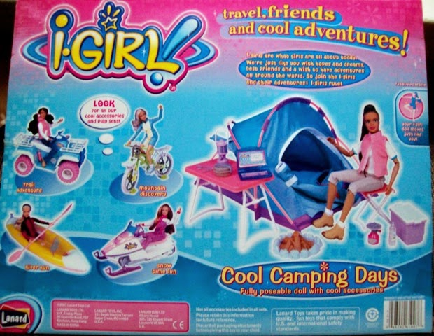 Lanard I-Girl Cool Camping Days box back