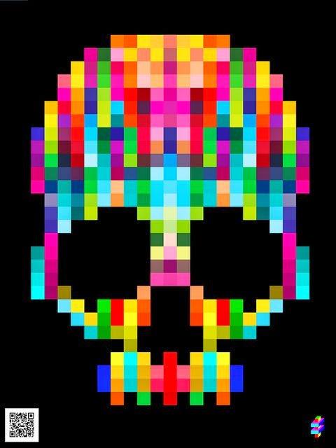 My Rainbow Crochet Giant Rainbow Skull