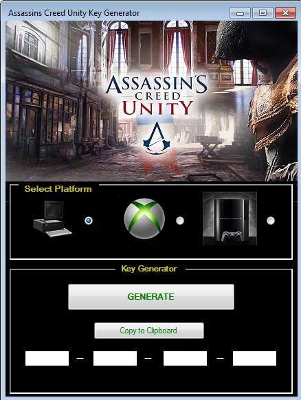 Assassin's Creed Unity Key Generator