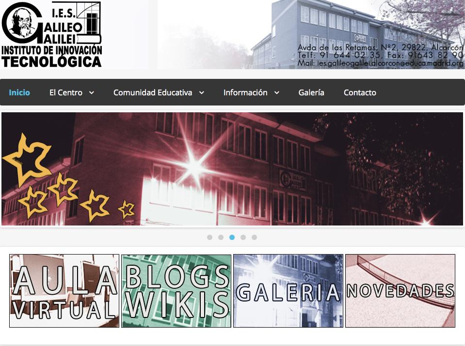 Nuevo Sitio Web del IES Galileo Galilei