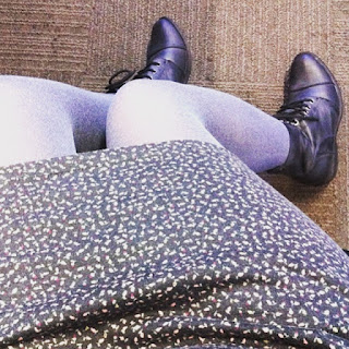 Cotton On floral dress, tights, boots, 90s grunge