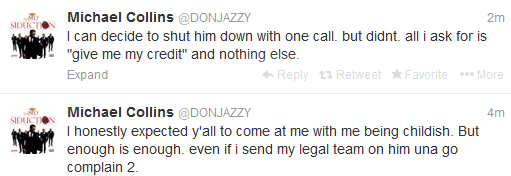 Yawa!!!! Don Jazzy Twitfights Wandecoal, says he stole his song.