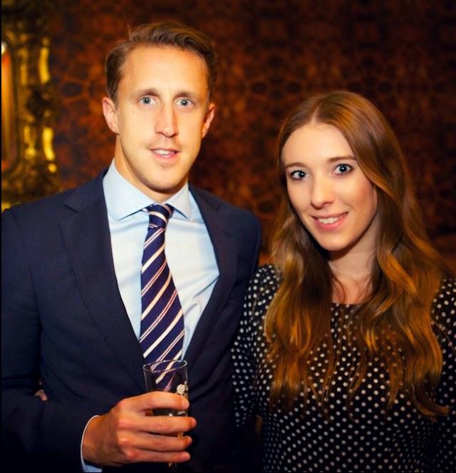 Fashion bloggers Edward Lumley and Catherine Lux at Sanctum Soho