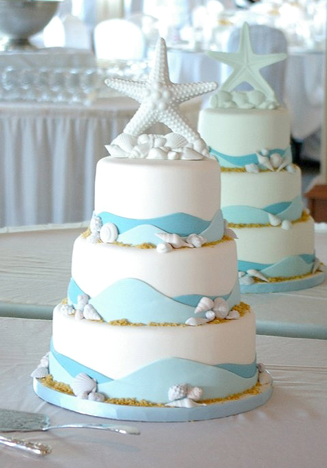 Sea Star Wedding Cake