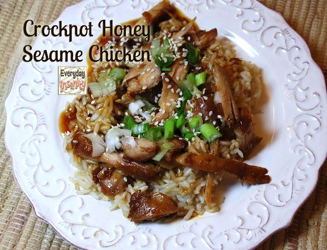 Everyday Insanity...: Crock Pot Honey Sesame Chicken