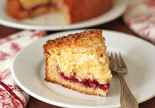 The Galley Gourmet: Cranberry Vanilla Coconut Coffee Cake