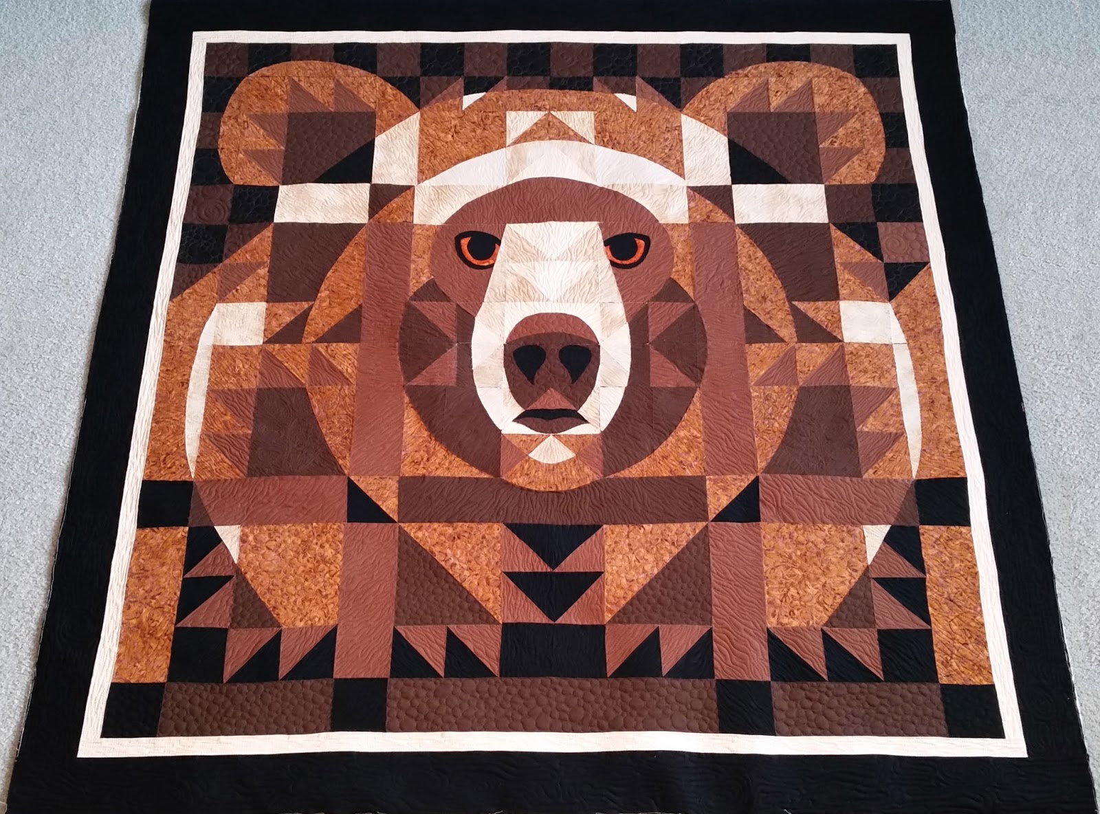 Roberta's Custom Quilting: Bear Face : country bears and quilts - Adamdwight.com