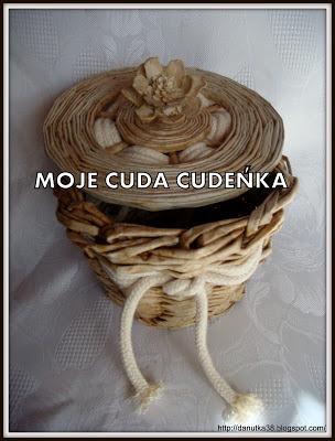 koszyk malowany kawą