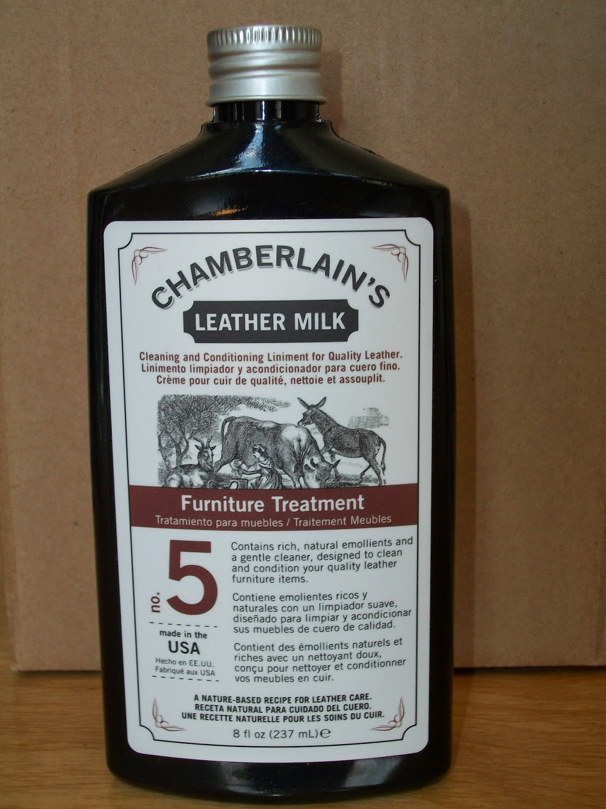 Mom Knows Best : Protect And Clean Your Leather Furniture With  Chamberlain's Leather Milk Furniture Treatment No. 5 Leather Conditioner