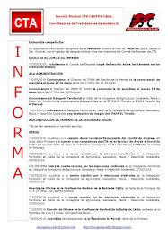C.T.A. INFORMA, LO REALIZADO EN MAYO DE 2019