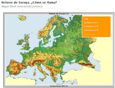 Worksheet. Centro Ercilla MAPAS FSICOS DE EUROPA ROS RELIEVE Y COSTAS