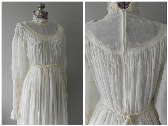 vintage hippie wedding dresses