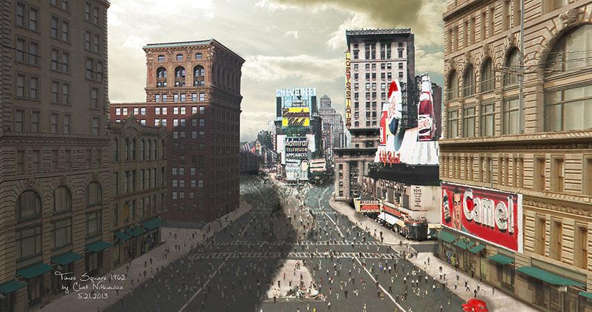 Times Matte Times Square 1960's Matte