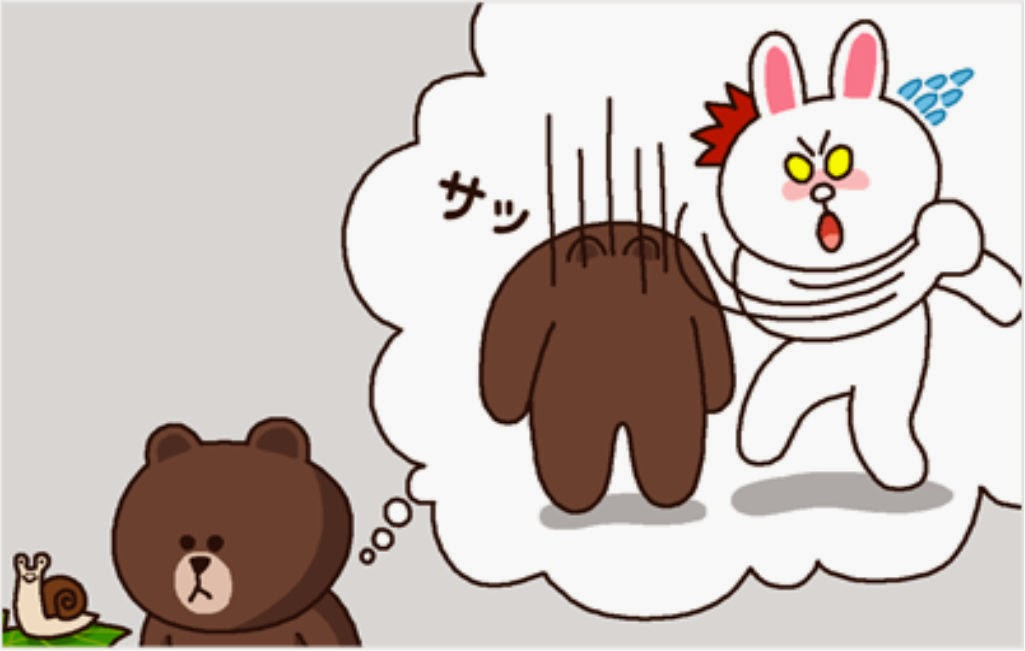 Download Sticker Line Brown and Cony | Deloiz Wallpaper