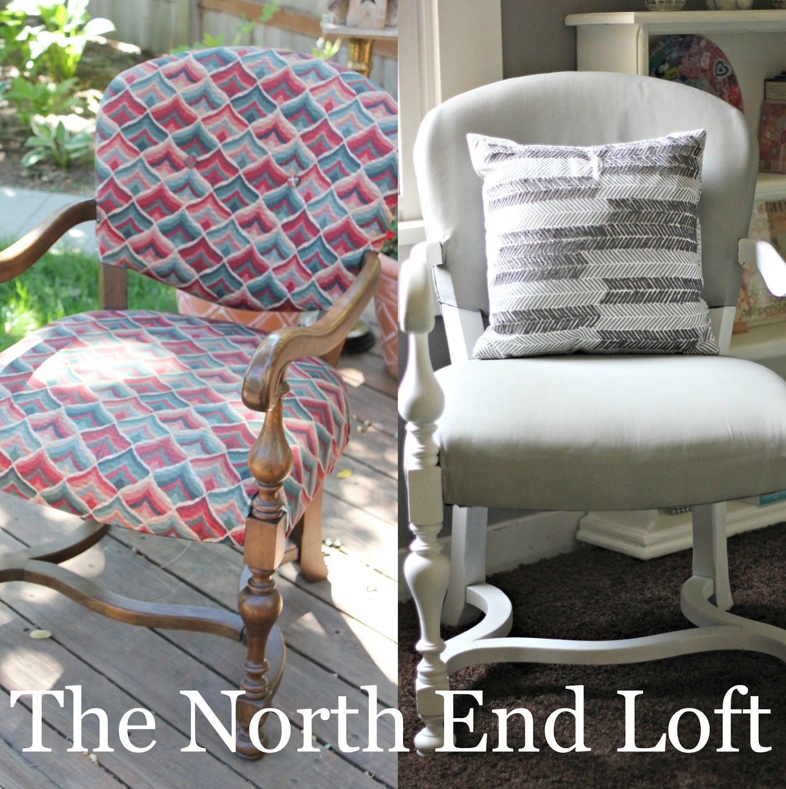 The north end loft: painted upholstery