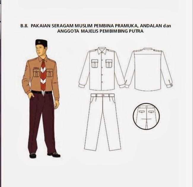 Pakaian Seragam Harian Pembina Pramuka, Andalan, dan ...