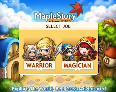 MapleStory Adventures - Job Select
