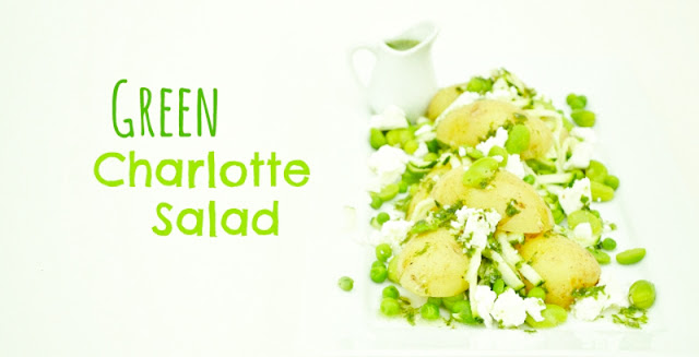 green charlotte salad with dressing