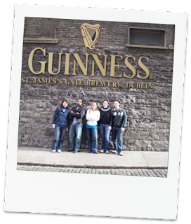 Mandatory stop at the Guinness Brewery on any trip to Ireland