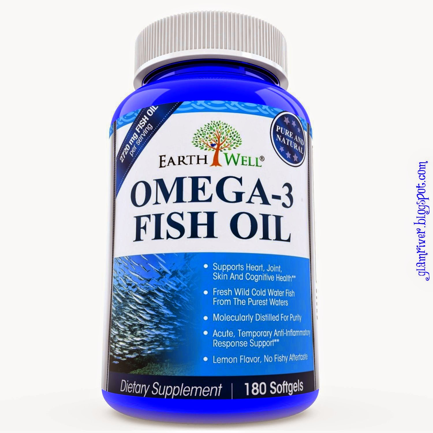 Glamriver omega 3 fish oil by earthwell nutrition review for Does fish oil help with joint pain