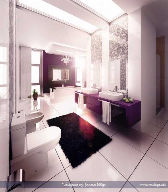 Baño De Color Rojo Oscuro:Beautiful Bathroom Idea