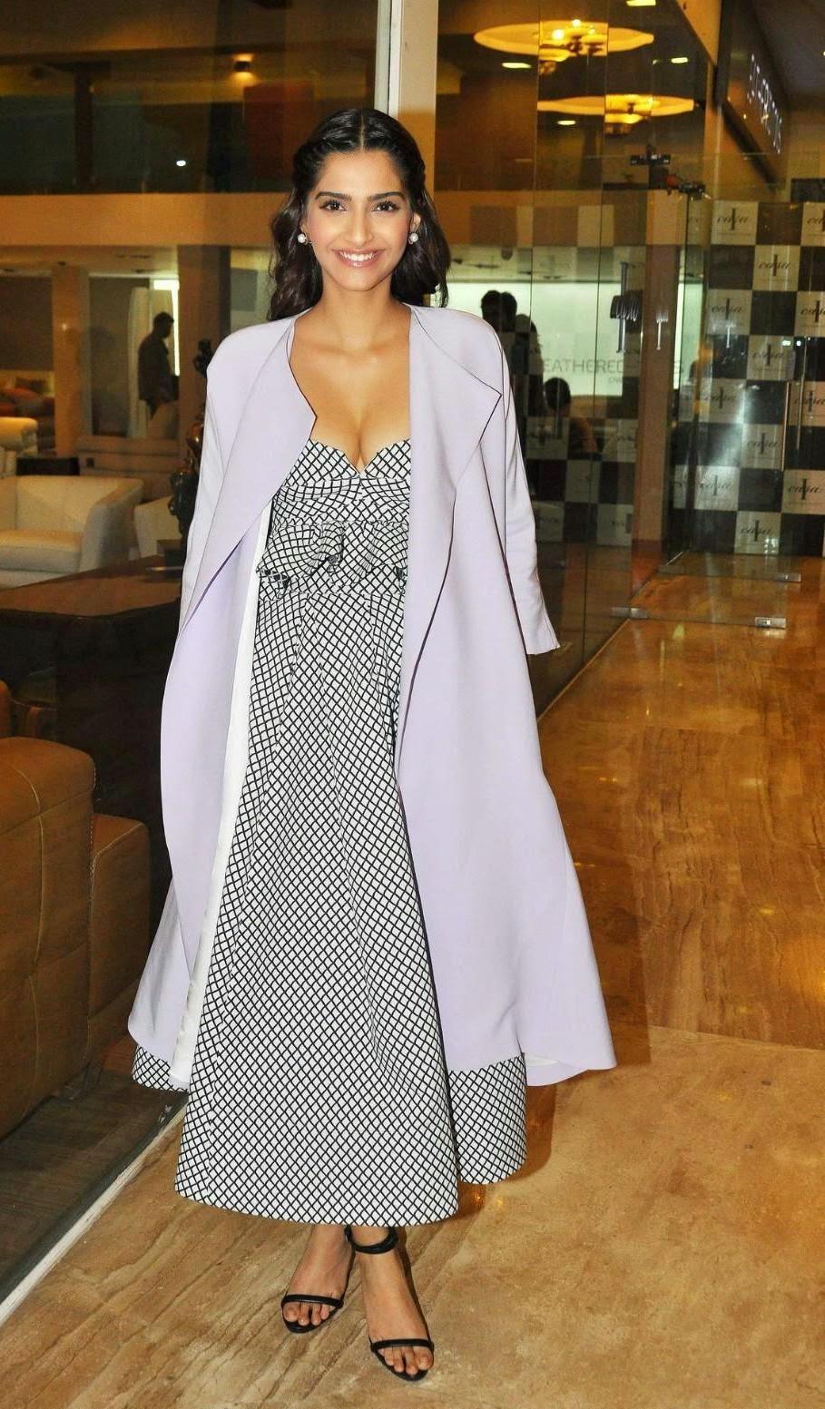 SONAM KAPOOR HOT PHOTOS : Sonam Kapoor's  Hottest Cleavage Pictures