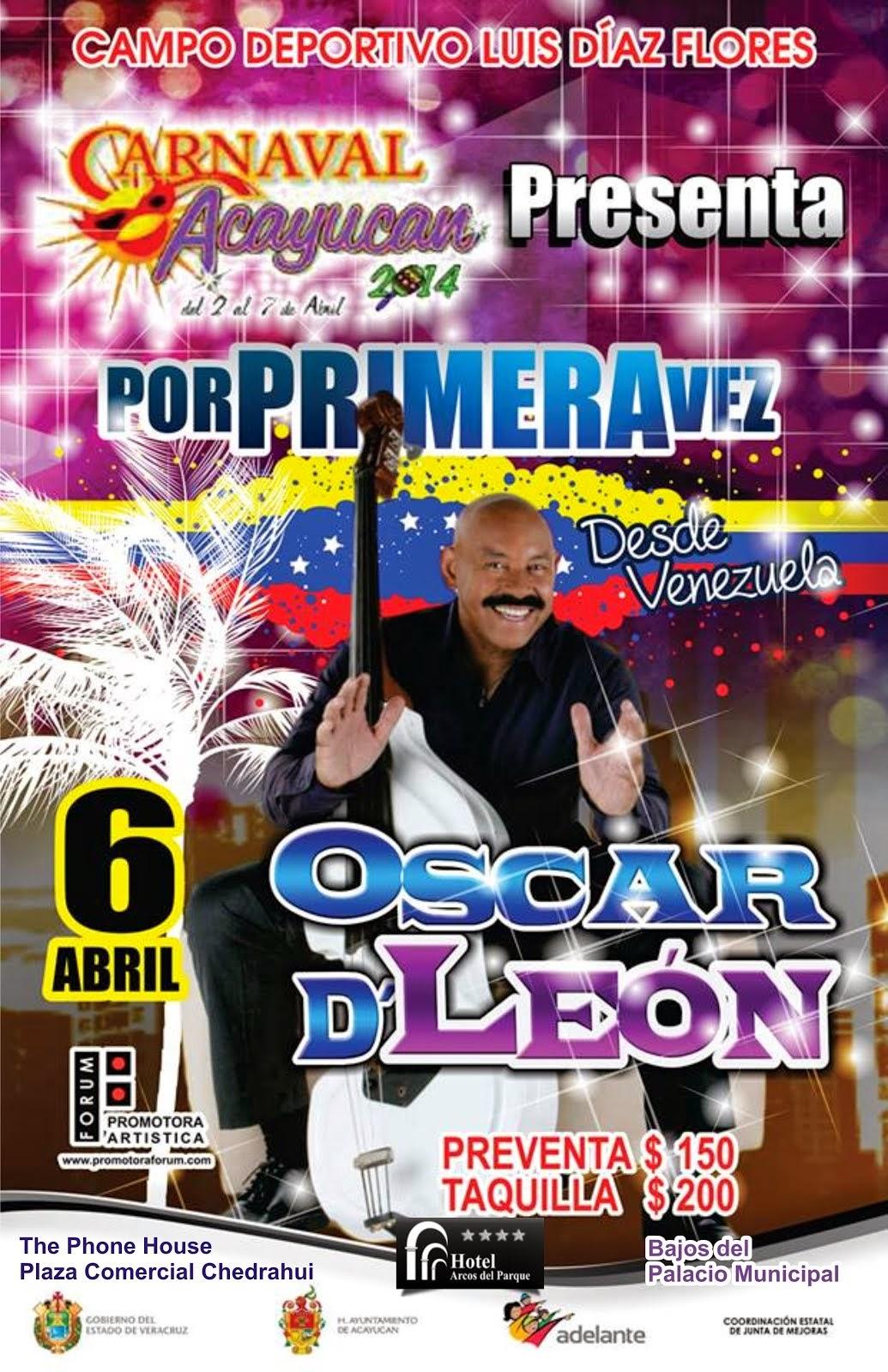 Oscar D´León en el Carnaval de Acayucan 2014