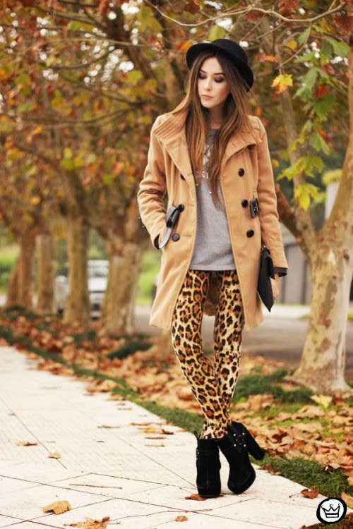 how to wear animal print pants