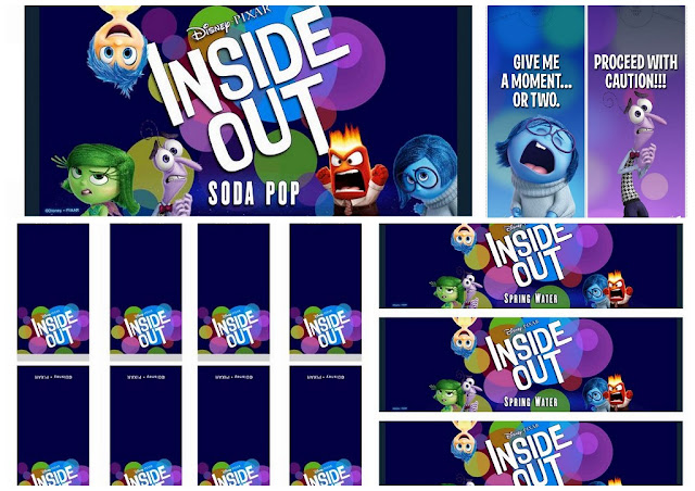 Inside Out: Free Printable Candy Bar Labels and Door Hangers.