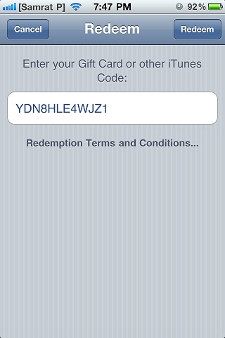 To redeem Free iTunes Redeem Codes on iPhone, iPad, or iPod touch 04