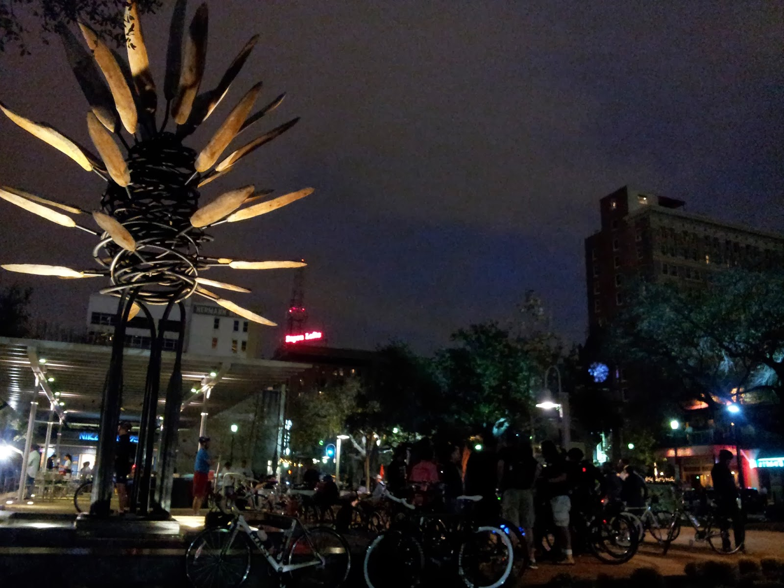 "Houston ""Critical Mass"" Bike Ride Photos."