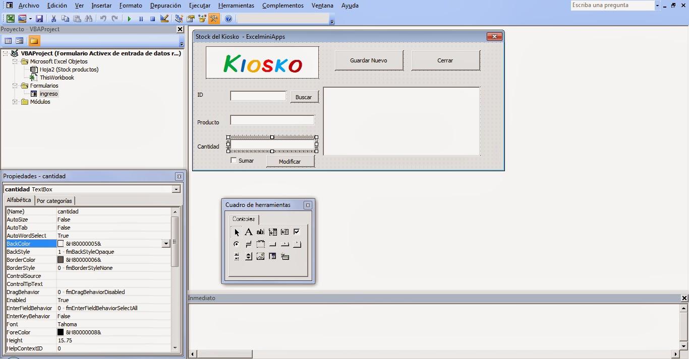 mini aplicaciones en Excel: Ingreso, búsqueda y modificación de ...