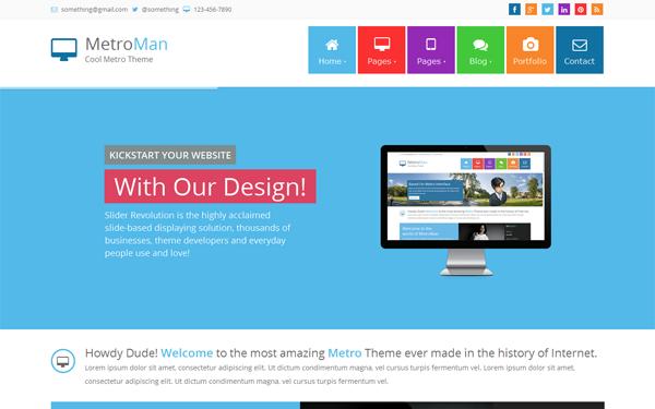 download metroman responsive metro theme v3 0 bootstrap templates. Black Bedroom Furniture Sets. Home Design Ideas