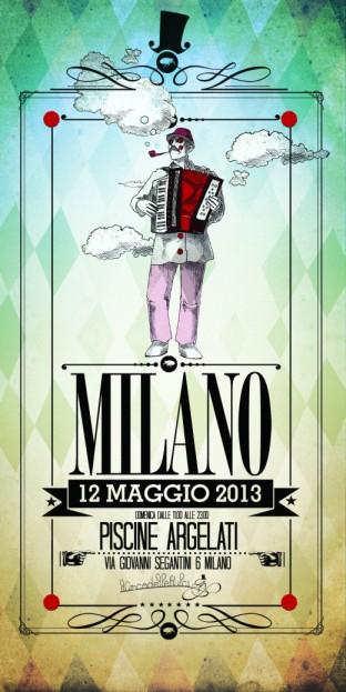 Domenica 12 maggio Milano Circo delle Pulci locandina