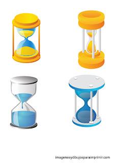 dibujos de relojes de arena