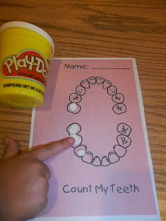 Play doh teeth for preschool