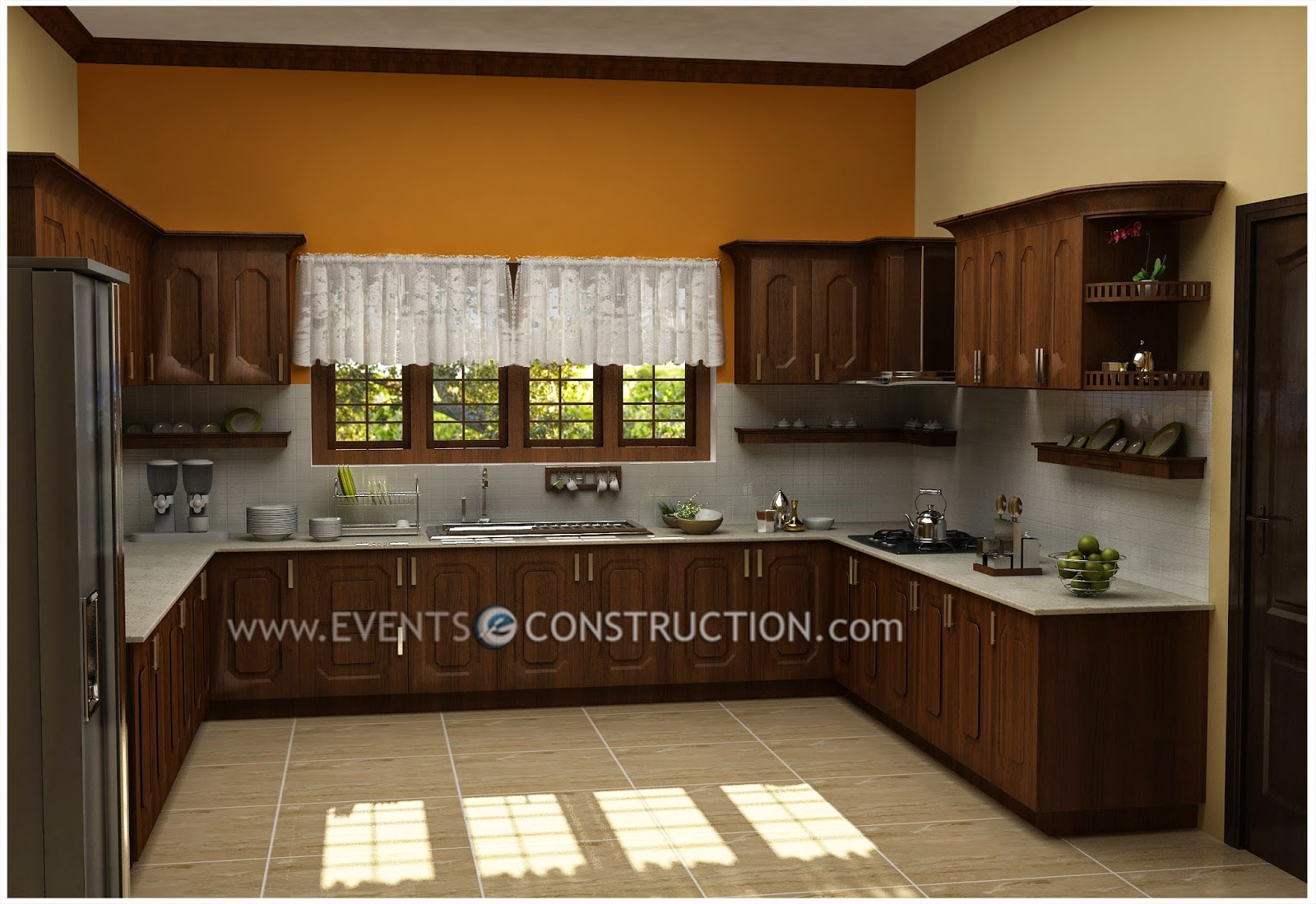 Evens construction pvt ltd modern kerala kitchen interior - Modern house interior design kitchen ...