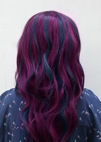 black & purple hairstyles gorgeous