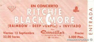 entrada de concierto de ritchie blackmore