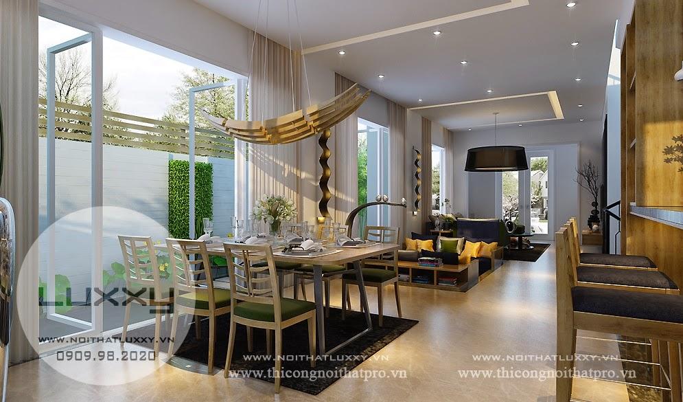 Thiết kế nội thất biệt thự đẹp song lập ở Vincom Village ở Sài Đồng, Gia Lâm Hà Nội