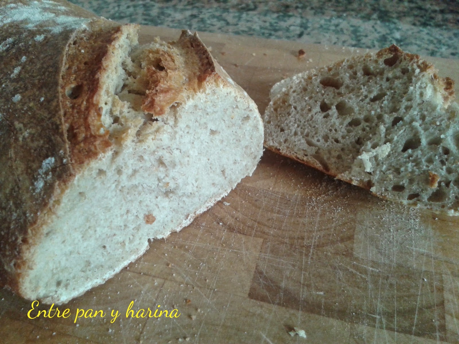 Entre pan y harina pan semi integral de trigo - Harina integral de trigo ...