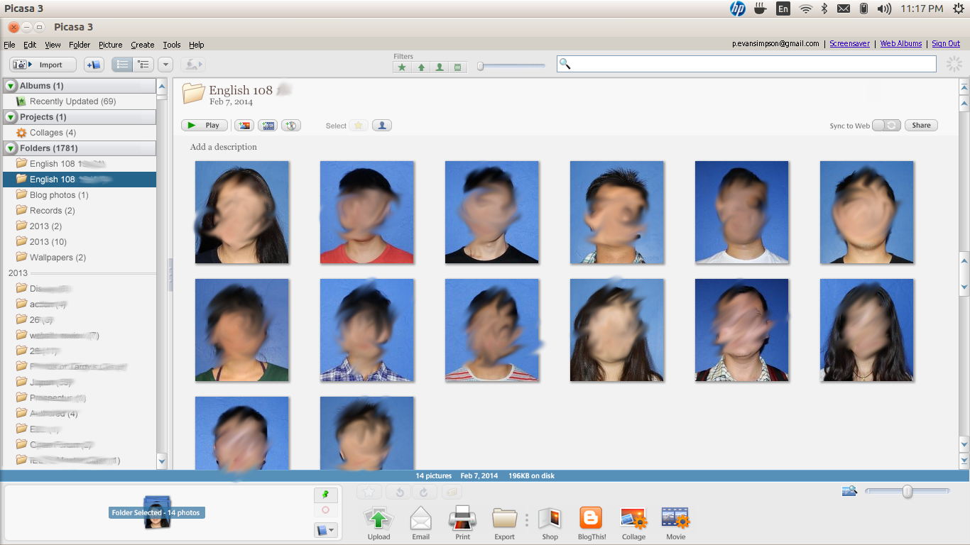 Class Photo Sheet, Class Contact Sheet, Student Photo Sheet, Picasa, edtech, classroom management