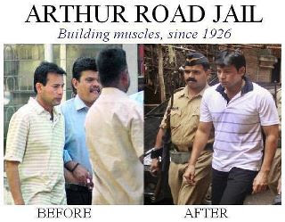 Abu Salem Abu Salem meme: Before and After Arthur Road Jail meme: Building muscles since 1926, aurthur road jail, muscles, body, troll, terrorist meme