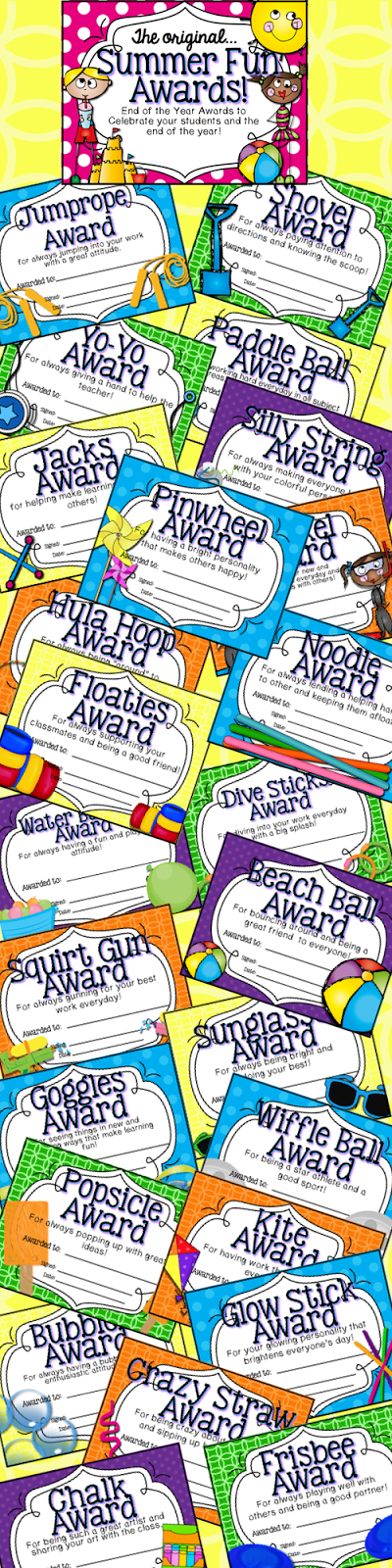 http://www.teacherspayteachers.com/Product/End-of-the-Year-Awards-Summer-Fun-Theme