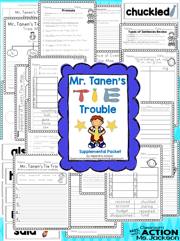 http://www.teacherspayteachers.com/Product/Mr-Tanens-Tie-Trouble-Journeys-Reading-1577182