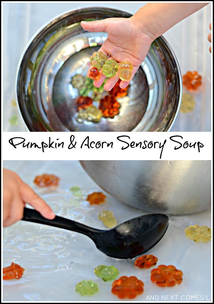 Pumpkin Acorn Sensory Soup Water Sensory Play And