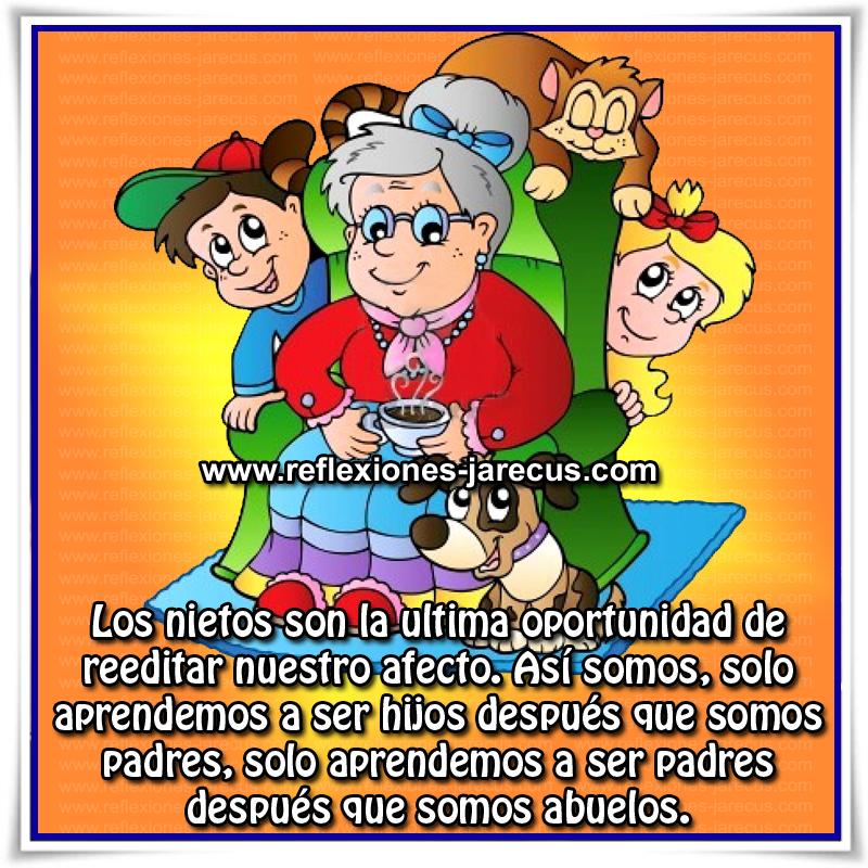 Reflexiones de Familia, padres, abuelos, hijos, nietos, niños, generación