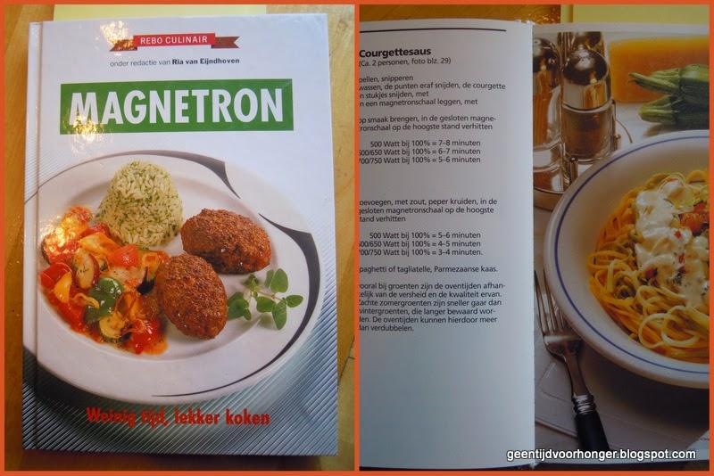 Koken met de magnetron (microgolfoven): Courgettesaus