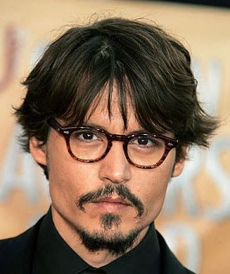 JOHNNY DEPP HAIRSTYLES - MEDIUM LAYERED BANG HAIRCUT